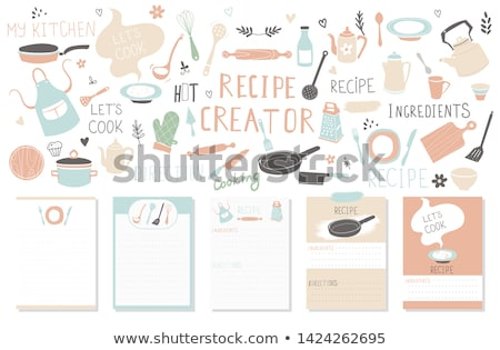 Yemek kitabı yazılı kolay kâğıt Stok fotoğraf © simply