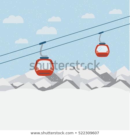 Alpino elevador montanhas mulher céu menina Foto stock © leeser