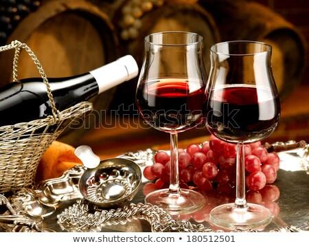 Vinho vinho tinto óculos um Foto stock © Pixelchaos