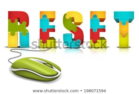 Computermuis puzzel business online winkelen Stockfoto © devon