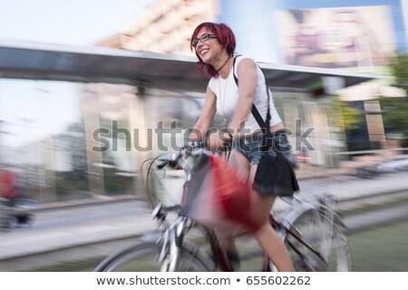 rowerowe · turystyki · rowerów · drzewo · lata · niebieski - zdjęcia stock © photography33
