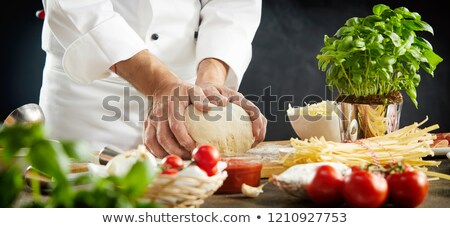 olasz · szakács · szakács · címke · színek · szalag - stock fotó © illustrart