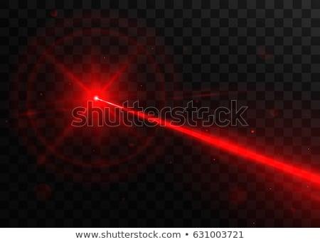vetor · laser · luz · bom · vermelho · cor - foto stock © X-etra