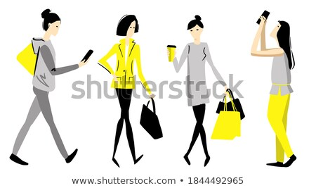 set of different photo young pretty woman lifestyle stock photo © hasloo