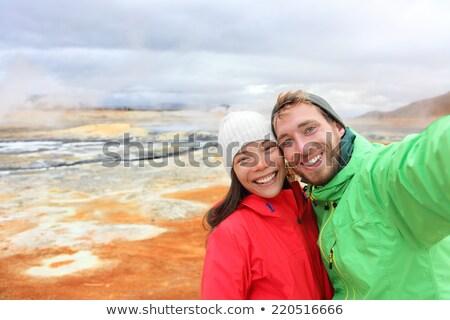 panorama · foto · donna · sorriso · erba - foto d'archivio © get4net