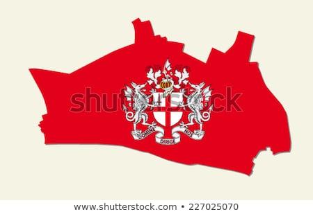 Londen · jas · armen · vlag · stad · kruis - stockfoto © claudiodivizia