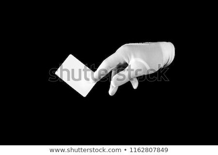 pago · tarjeta · de · crédito · sonriendo · mujer · rubia · negocios - foto stock © photography33