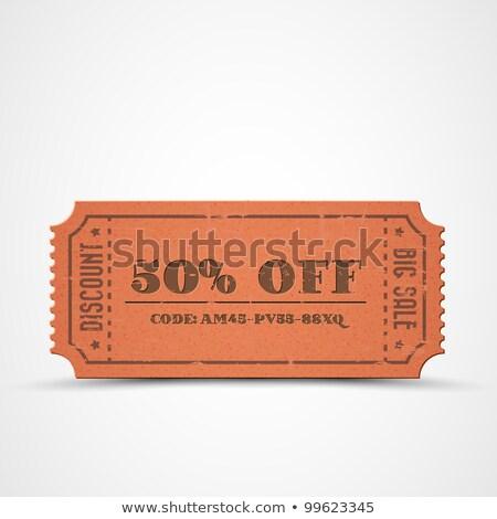 vetor · laranja · vintage · venda · velho · papel - foto stock © orson