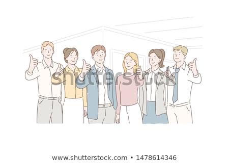 成功した · 女性実業家 · 幸せ · 小さな - ストックフォト © stockyimages