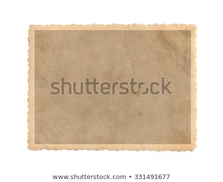 velho · escuro · papel · papiro · isolado · branco - foto stock © suljo