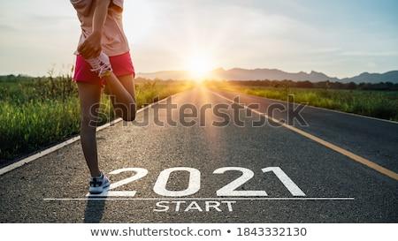 Erkek atlet yarış pisti adam spor Stok fotoğraf © stevemc