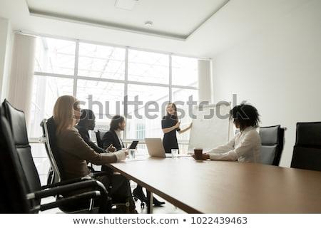 oldalnézet · boldog · fiatal · több · nemzetiségű · csoport · cégvezetők - stock fotó © diego_cervo