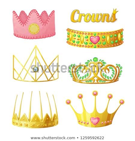 gyönyörű · gyémánt · tiara · divat · terv · üveg - stock fotó © carodi