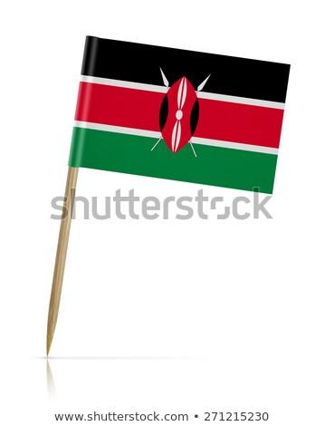 Miniature Flag of Kenya (Isolated) Stock photo © bosphorus