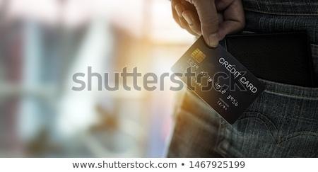 creditcard · uit · portemonnee · geïsoleerd · witte - stockfoto © gewoldi