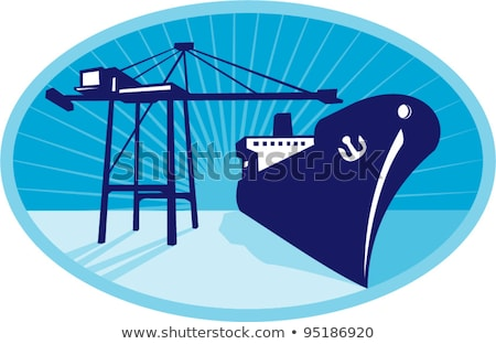 Container Boom Crane Loading Ship Boat  Stock photo © patrimonio