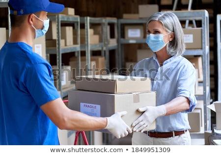 Női felügyelő munkás kéz épület építkezés Stock fotó © photography33
