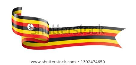 Uganda · térkép · zászló · utazás · Afrika · fekete - stock fotó © zeffss