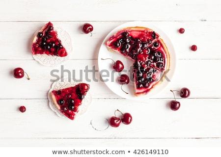 fresh currant  berry fruit cake Stock photo © keko64