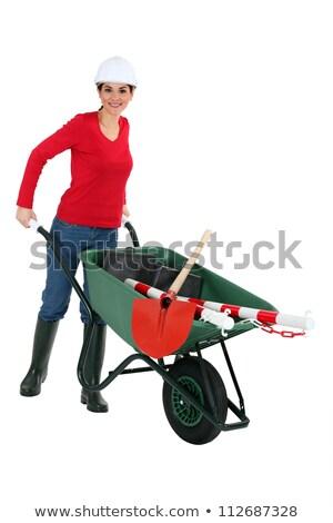 Carriola donna lavoro segno strumenti lavoratore Foto d'archivio © photography33