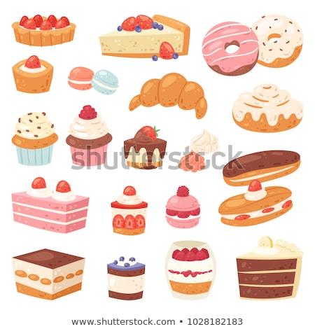 Tatlı kekler ayarlamak Stok fotoğraf © czaroot