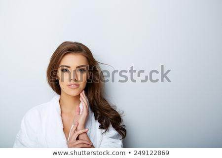 Hübsche Frau spa Salon schönen weiblichen violett Stock foto © Anna_Om