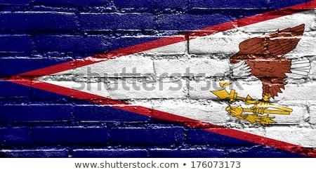 Bandeira Samoa Americana parede de tijolos pintado grunge edifício Foto stock © creisinger