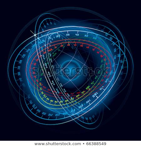 Fantasie ruimte navigatie bol eps kaart Stockfoto © fixer00