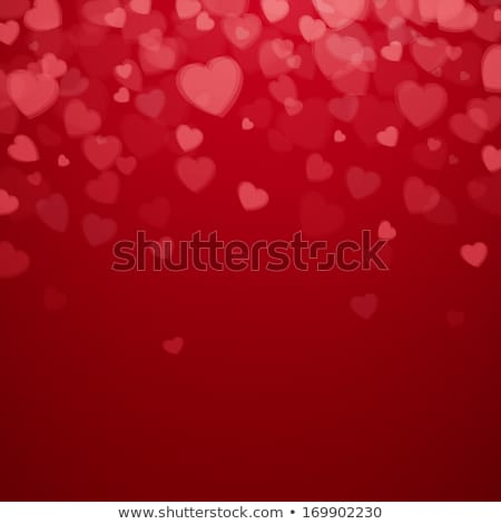 red shiny vector heart for valentines day stock photo © experimental