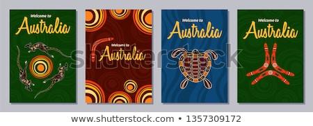 Ausztrál bumeráng fából készült merő fehér fa Stock fotó © vankad
