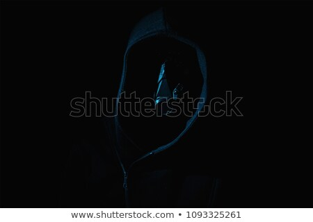 hooded figure with white mask Stock photo © sirylok