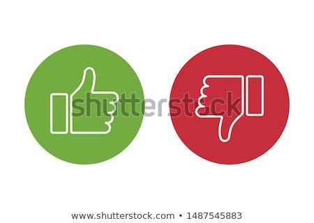 Como aversión medios de comunicación social blanco mano Foto stock © tashatuvango