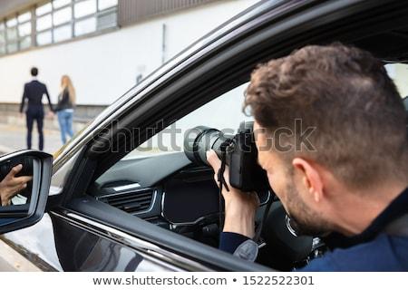 młody · człowiek · przestępczości · śledztwo · biuro · działalności · bezpieczeństwa - zdjęcia stock © piedmontphoto
