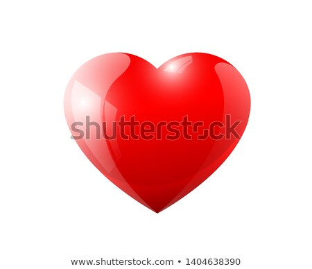 red glossy heart  Stock photo © oblachko