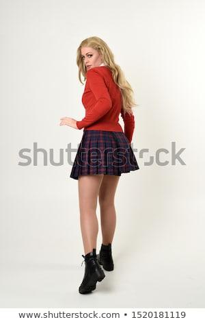 Porträt ziemlich Mädchen Schuluniform isoliert Stock foto © stockyimages