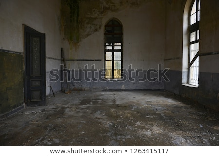 destruído · quarto · interior · espaço · cidade · parede - foto stock © ziprashantzi