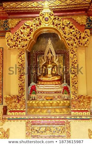 Boeddhisme tempel kunst dak oorlog reizen Stockfoto © smithore