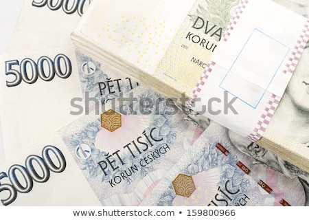 Stockfoto: Czech Banknotes Nominal Value One And Two Thousand Crowns