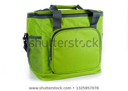 green cooler bag with carrying strap isolated Stock photo © shutswis