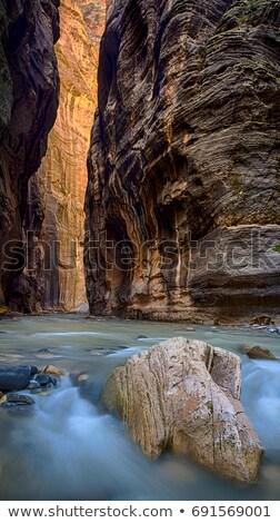 Foto stock: Rochas · rocha · estrada · paisagem · azul · diversão