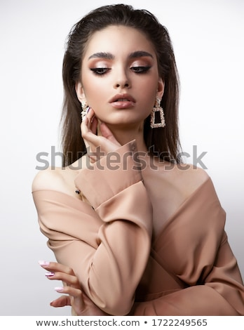 Girl In Elegant Evening Dress She Looks Down Zdjęcia stock © Gromovataya