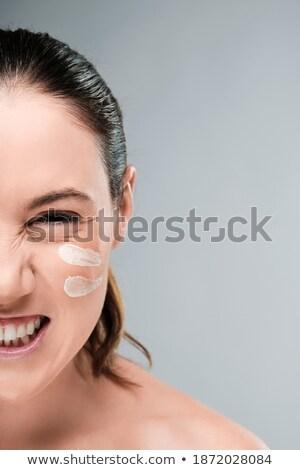 frustrado · zangado · mulher · gritando · isolado · branco - foto stock © lithian