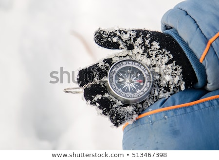 bússola · neve · instrumento · navegação - foto stock © stevanovicigor