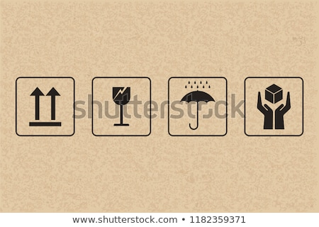 Güvenlik kırılgan ikon karton kâğıt kutu Stok fotoğraf © tashatuvango