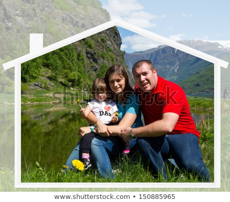collage of couples spending time together at home and outdoors stock photo © wavebreak_media