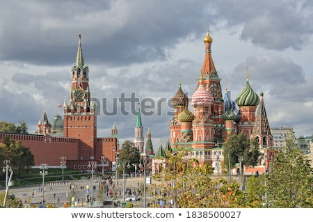 Frame with Kremlin Towers Stock photo © dayzeren