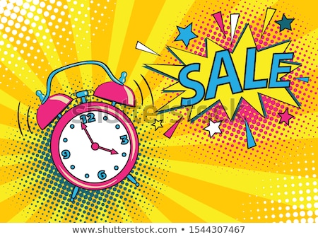 Sale poster with explosives alarm clock Stock photo © ikopylov