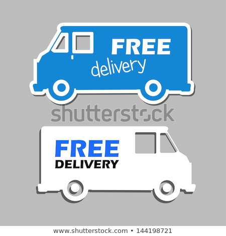 free delivery and truck sign in blue button Stock photo © marinini