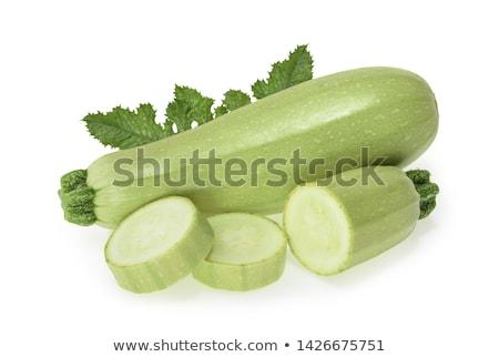 Fresh vegetable marrow. Isolated on white Stock photo © ozaiachin