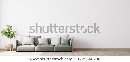 Stok fotoğraf: A Room Interior With A Armchair